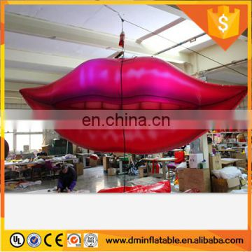 2018 Hot sale giant inflatable replica lips for nightclub Show
