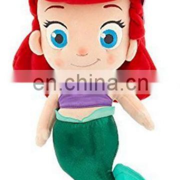 Custom cartoon figure stuffed plush mermaid girl doll toys for kids