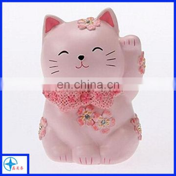 sakura collection resin saving pot maneki neko