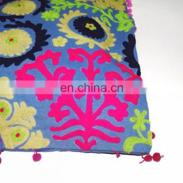 Cotton uzbek Traditional Suzani Pillow cases Indian Hand embroidery Suzani Home decor Pillows Wholesale