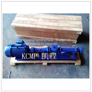 Rotary positive displacement screw pump