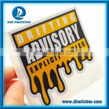 Custom Printing 3M Reflective Sticker Outdoor Die Cut Sticker 3M Car or Motorcycle Decal