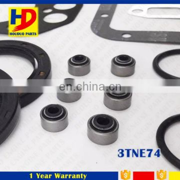 3TNE74 Engine Overhaul Full Gasket Kit Set