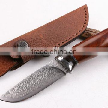 OEM Hunting Knife Application and Damascus Steel Handle Material knife