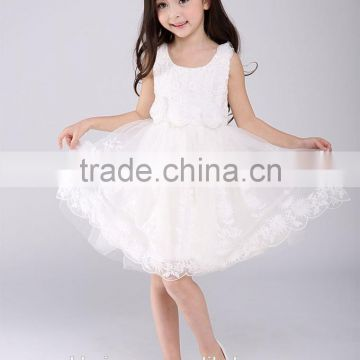 ba6564046d31 Pakistan Princess Rose Flower girls party dress white Lace Net frock  designs for kids baby girl fairy dresses of girls wedding dress from China  Suppliers - ...