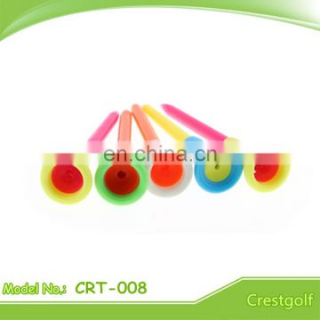 Colourfull Rubber Head Golf Tees plastic Golf Tees