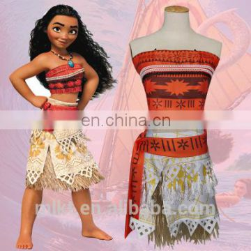 Wholesaler cheap girls Halloween Cosplay Pacific Princess Moana Costume