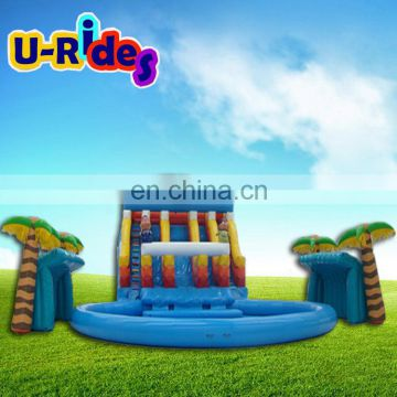 Exciting Kids Outdoor Giant Inflatable Sea Water Park Play Equipment With Slides And Swimming Pool For Sale