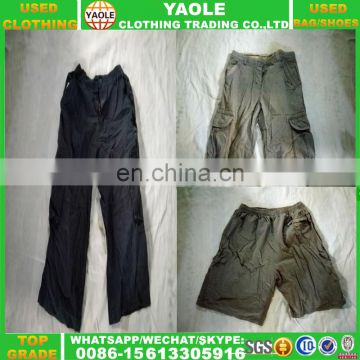 Hot sale military 6 pocket used cargo pants
