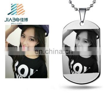 Bulk cheap personalized custom made sex girl metal dog tags for wholesales