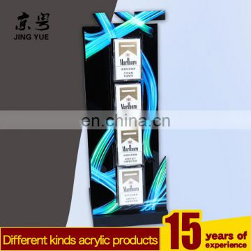custom led acrylic cigarette display stand with the top light box,acrylic tobacco/cigarette display stand