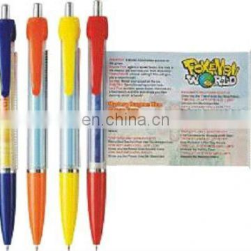 Pull Reel Ball Pen