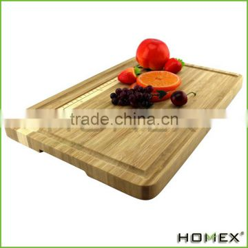 Easylife Organic Bamboo Cutting Board With Ruler, Extra Large & Medium Size Set, All-Natural