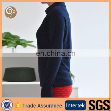 Women turn down neck knitting cashmere sweater price