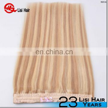 new style Sew in human hair extensions,human hair cheap halo hair extensions,wholesale 6a Eurasian