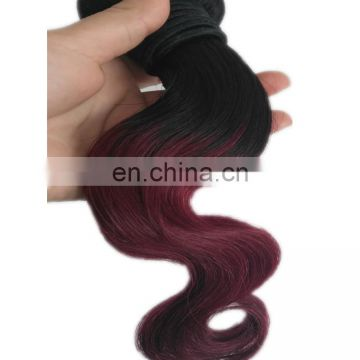 "12"" 14"" two tone colored peruvian body wave hair"
