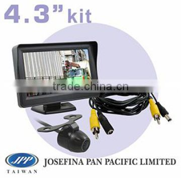 "4.3"" monitor car back up butterfly reversing camera kit system with parking line and 5M cable"