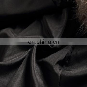 Top quality raccoon fur coat gradient color real raccoon fur overcoat