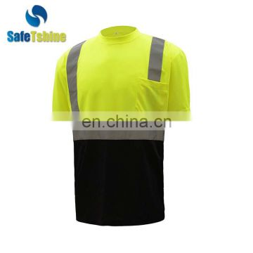 Best selling high visibility reflective safety work shirts