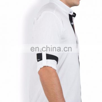 100% Cotton Stand Collar Casual Shirt