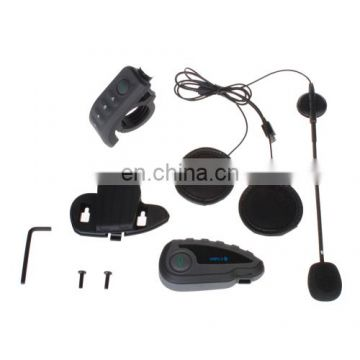 V8 1200m 5 Riders Motorcycle Helmet Intercom Stereo Headset with Remote Controller