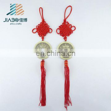 Jiabo custom red Chinese knot peace symbol pendant for gift
