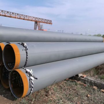 Anticorrosion Round Welded Steel Pipe 3pe/fbe Coating  Conveying Fluid Petroleum Gas Oil