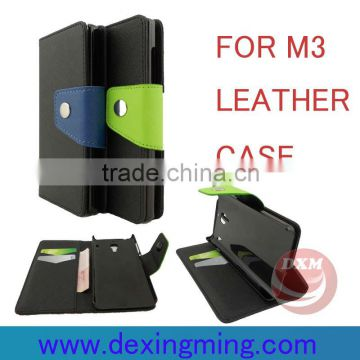 Newes!!! Contrast color style synthetic leather cases for xiaomi M3 accesories
