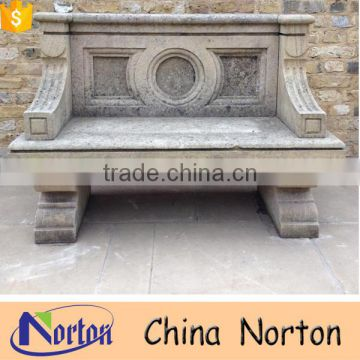 Antique garden stone outdoor park bench NTMF-B246A