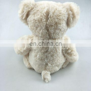 12 inches cream white plush teddy bear with soft plush fabric plush baby bear toy
