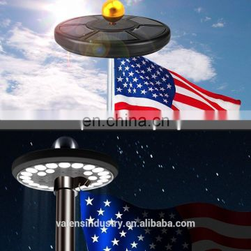 Flagpole Solar Light 24LED Downlight Lighting for 15 to 25 Ft Flag Pole Topper, Auto On/Off Night Light