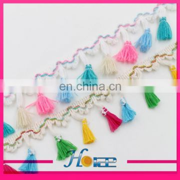 popular lace trimming high quality tassel trim hea187