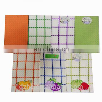 100 cotton embroidery gift kitchen towel set made in china