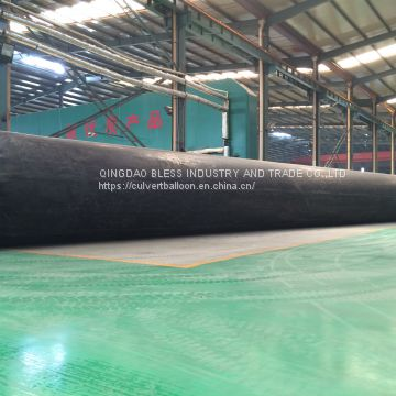 inflatable rubber baloon(1200mm diameters) for culvert bridge construction sold to Kenya