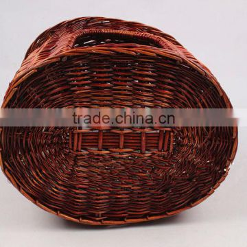 Cheap luxury round house rattan cat house with cotton mat