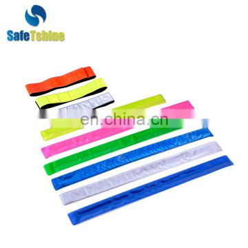 Eco-friendly Reclaimed Material reflective slap wrap wrist belt