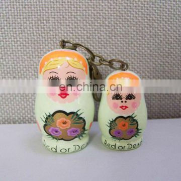 hot sale handicrafts wooden russian nesting dolls for decoration