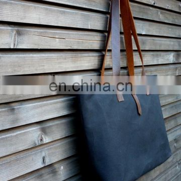 Waxed canvas tote bag canvas wholesale tote bags cotton tote bag