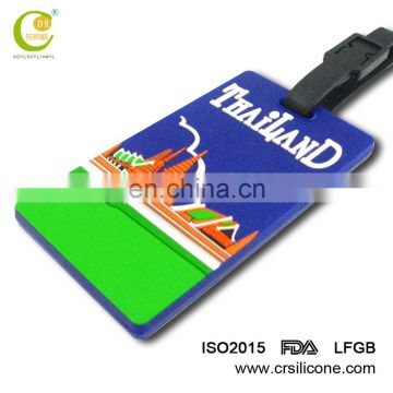 Factory Direct Sale Custom Personalised Eco-Friendly Pvc Silicone Baggage Tags