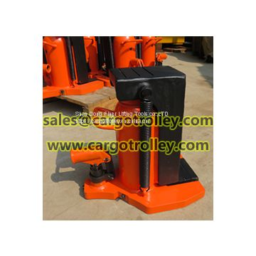 Toe jack lifting up equipments
