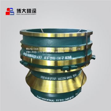 bowl liner cone crusher spare parts concave and mantle factory