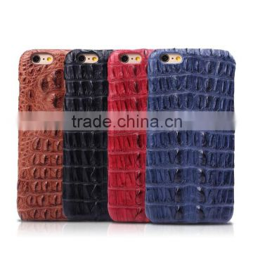 Wholesale Customize Genuine Crocodile Leather Cell Phone Mobile Phone Cases Shell for Iphone6s Plus