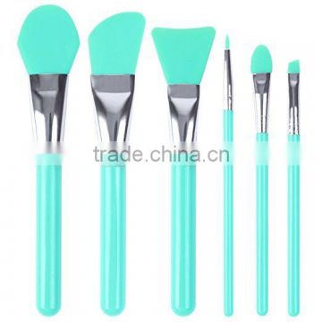 Face Mask Brush, Silicone Cosmetic Brush Set of 6 Facical Mask Brush set and Eye makeup Brushes