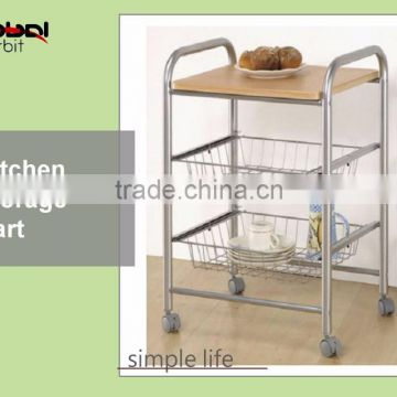 Metal Kitchen Vegetable Storage Cart Space Saver Mobile Bathroom