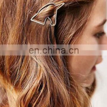 unicorn shape hair clip for girl to hold the bang