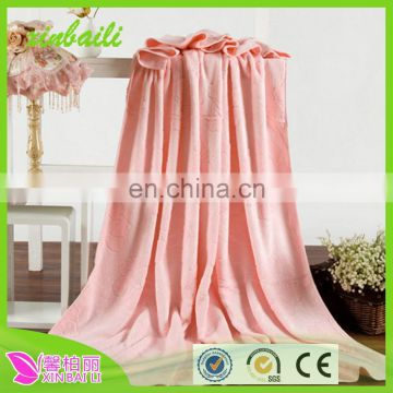 Wholesale jacquard bamboo fiber super heavy yarn dyed towel blanket