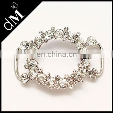 Wholesale bow Rhinestone buckle for dresses BK-076