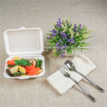 Disposable Biodegradable 600 ML Lunch Box For Food