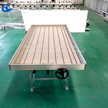 Ebb and flow table with high quality greenhouse rolling bench