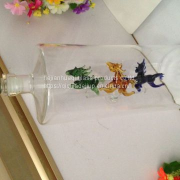 horse glass vodka bottle for brandy and wine